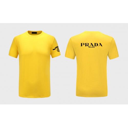 Prada T-Shirts Short Sleeved For Men #843583 $27.00 USD, Wholesale Replica Prada T-Shirts