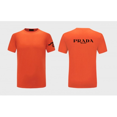 Prada T-Shirts Short Sleeved For Men #843585 $27.00 USD, Wholesale Replica Prada T-Shirts