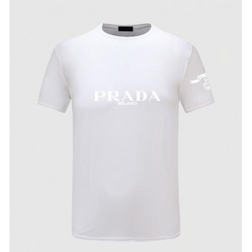 Prada T-Shirts Short Sleeved For Men #843588 $27.00 USD, Wholesale Replica Prada T-Shirts