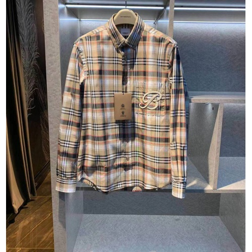 Burberry Shirts Long Sleeved For Men #843841 $72.00 USD, Wholesale Replica Burberry Shirts