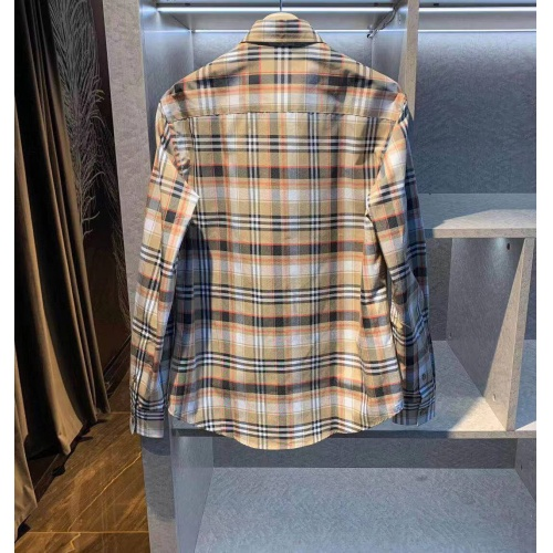 Replica Burberry Shirts Long Sleeved For Men #843841 $72.00 USD for Wholesale