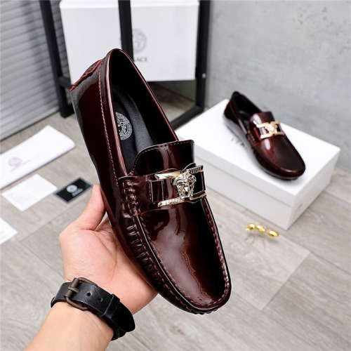 Replica Versace Leather Shoes For Men #844189 $68.00 USD for Wholesale