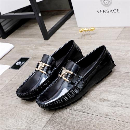 Versace Leather Shoes For Men #844190 $68.00 USD, Wholesale Replica Versace Leather Shoes