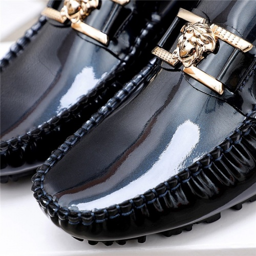 Replica Versace Leather Shoes For Men #844190 $68.00 USD for Wholesale