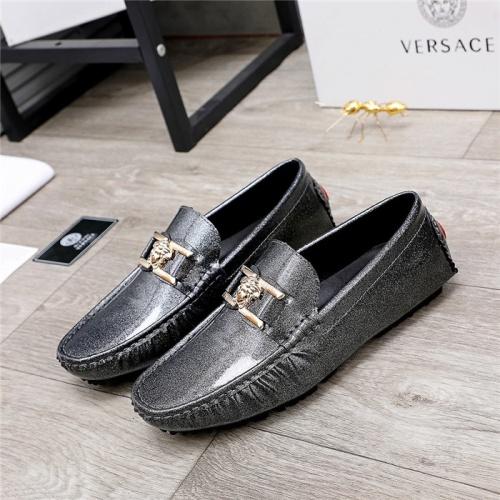 Versace Leather Shoes For Men #844191 $68.00 USD, Wholesale Replica Versace Leather Shoes