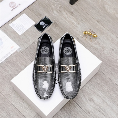 Replica Versace Leather Shoes For Men #844191 $68.00 USD for Wholesale