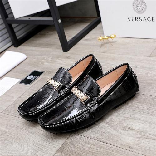 Versace Leather Shoes For Men #844192 $68.00 USD, Wholesale Replica Versace Leather Shoes