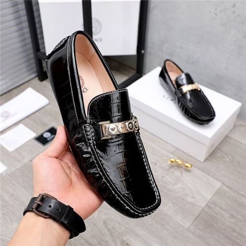 Replica Versace Leather Shoes For Men #844192 $68.00 USD for Wholesale