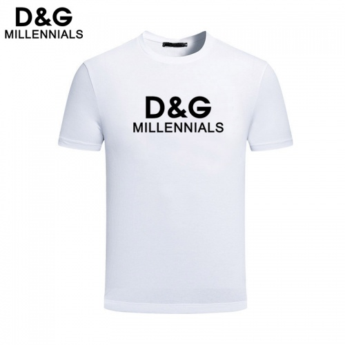 Dolce & Gabbana D&G T-Shirts Short Sleeved For Men #844459 $25.00 USD, Wholesale Replica Dolce & Gabbana D&G T-Shirts