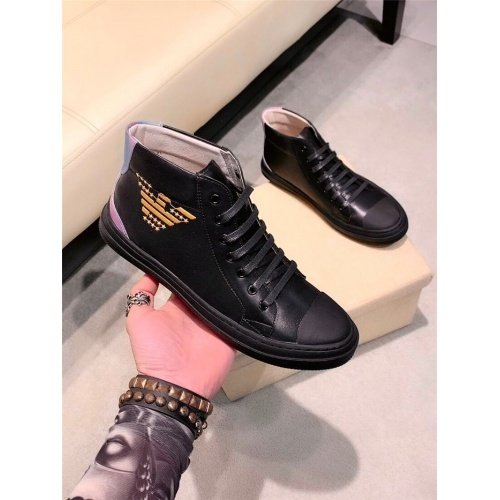 Armani High Tops Shoes For Men #844894