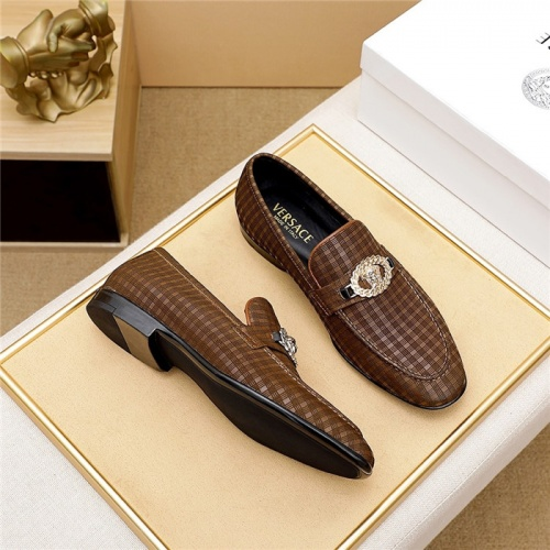 Replica Versace Leather Shoes For Men #844930 $80.00 USD for Wholesale