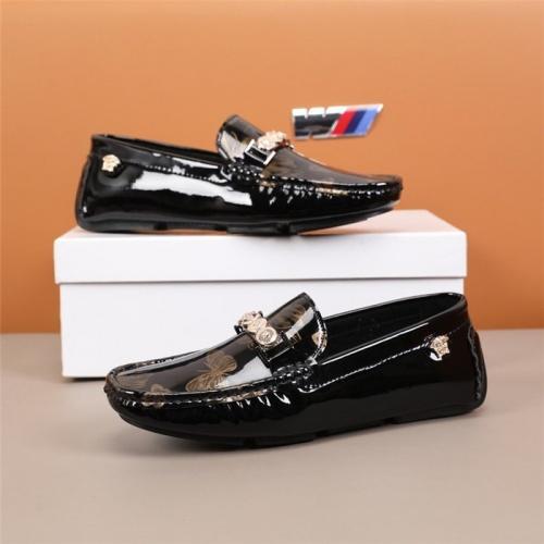 Versace Leather Shoes For Men #845387 $82.00 USD, Wholesale Replica Versace Leather Shoes