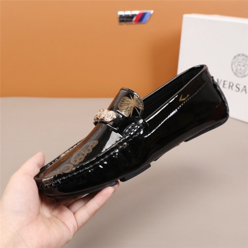 Replica Versace Leather Shoes For Men #845387 $82.00 USD for Wholesale