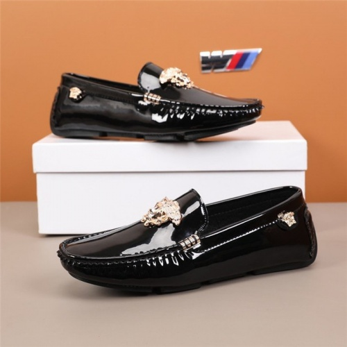 Versace Leather Shoes For Men #845388 $82.00 USD, Wholesale Replica Versace Leather Shoes