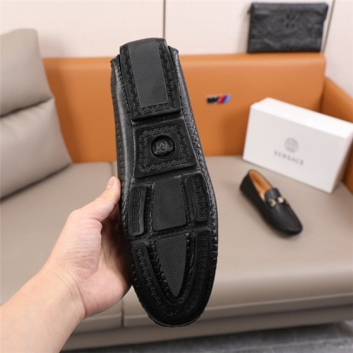 Replica Versace Leather Shoes For Men #845399 $85.00 USD for Wholesale