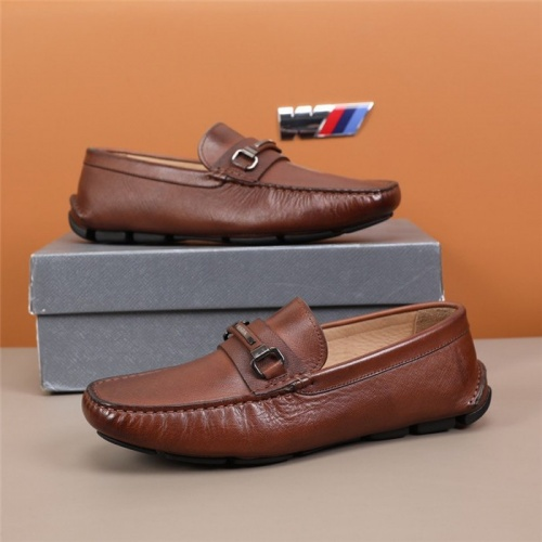Prada Leather Shoes For Men #845401