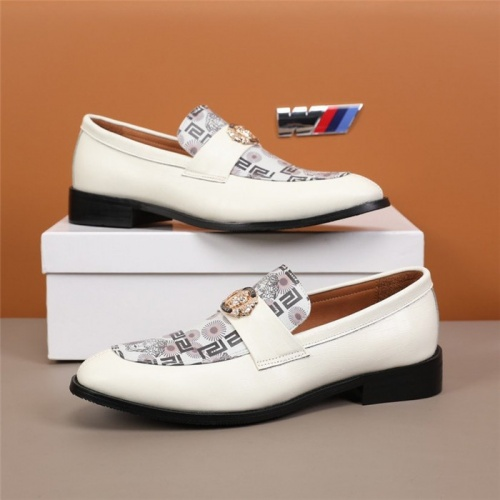 Versace Leather Shoes For Men #845413 $96.00 USD, Wholesale Replica Versace Leather Shoes