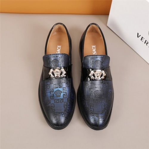 Replica Versace Leather Shoes For Men #845414 $96.00 USD for Wholesale