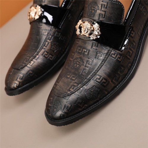 Replica Versace Leather Shoes For Men #845416 $96.00 USD for Wholesale