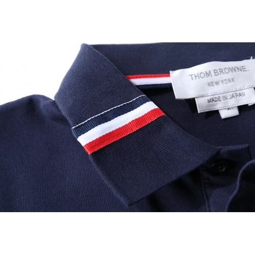 Replica Thom Browne TB T-Shirts Short Sleeved For Men #845490 $38.00 USD for Wholesale