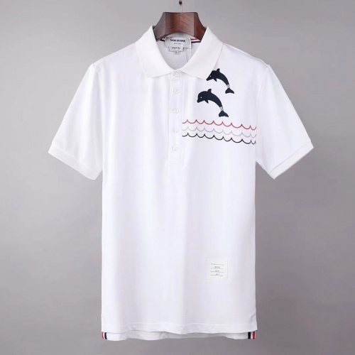 Thom Browne TB T-Shirts Short Sleeved For Men #845495 $39.00 USD, Wholesale Replica Thom Browne TB T-Shirts