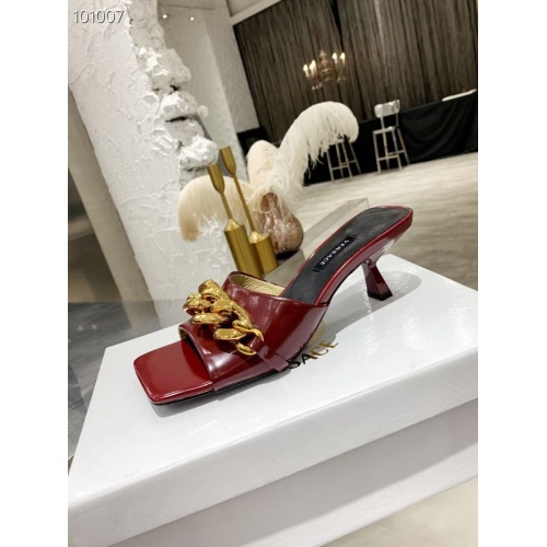 Replica Versace Slippers For Women #845606 $68.00 USD for Wholesale