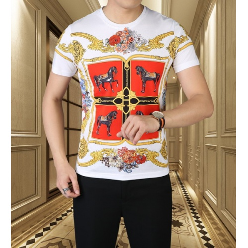 Hermes T-Shirts Short Sleeved For Men #845716 $38.00 USD, Wholesale Replica Hermes T-Shirts