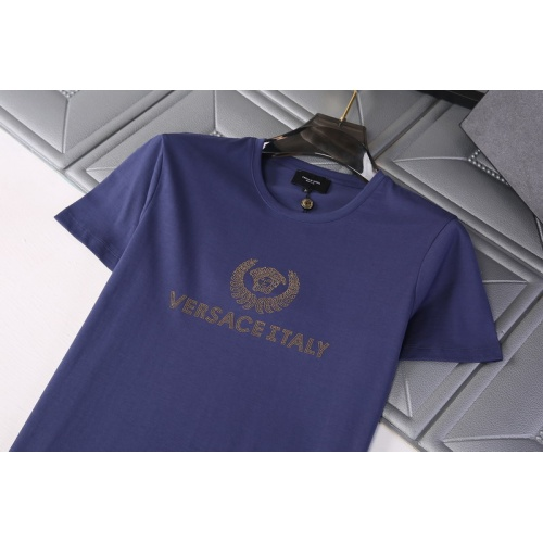 Replica Versace T-Shirts Short Sleeved For Men #845742 $29.00 USD for Wholesale