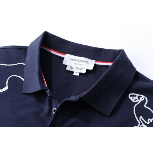 Replica Thom Browne TB T-Shirts Short Sleeved For Men #845865 $41.00 USD for Wholesale