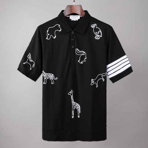 Thom Browne TB T-Shirts Short Sleeved For Men #845867 $41.00 USD, Wholesale Replica Thom Browne TB T-Shirts