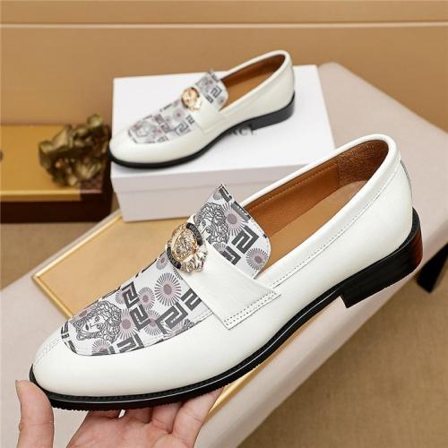 Versace Leather Shoes For Men #846205 $82.00 USD, Wholesale Replica Versace Leather Shoes
