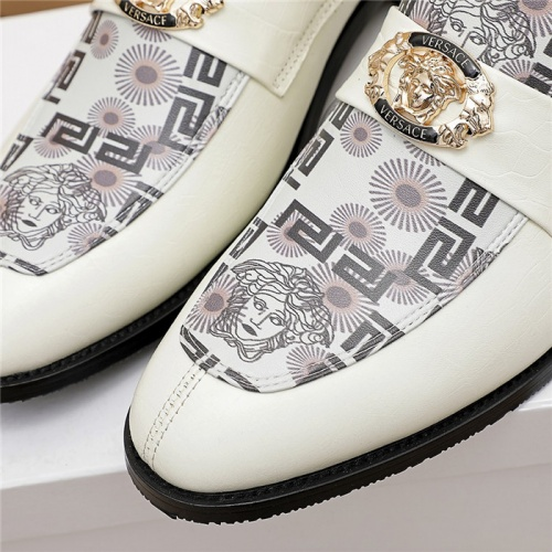 Replica Versace Leather Shoes For Men #846205 $82.00 USD for Wholesale