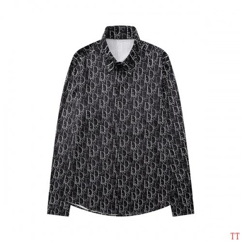 Christian Dior Shirts Long Sleeved For Men #846273