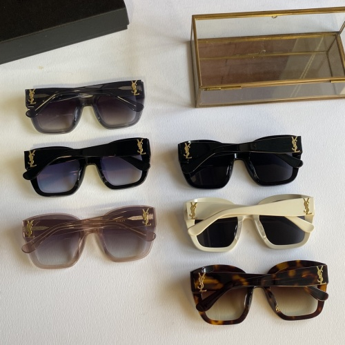Replica Yves Saint Laurent YSL AAA Quality Sunglassses #846289 $60.00 USD for Wholesale