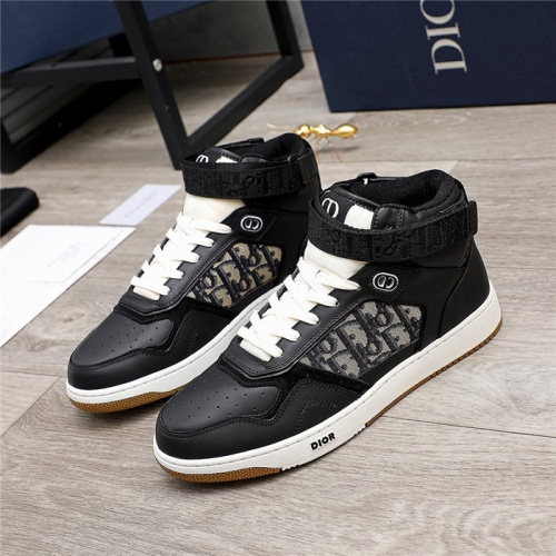 Christian Dior High Tops Shoes For Men #846571 $118.00 USD, Wholesale Replica Christian Dior High Tops Shoes