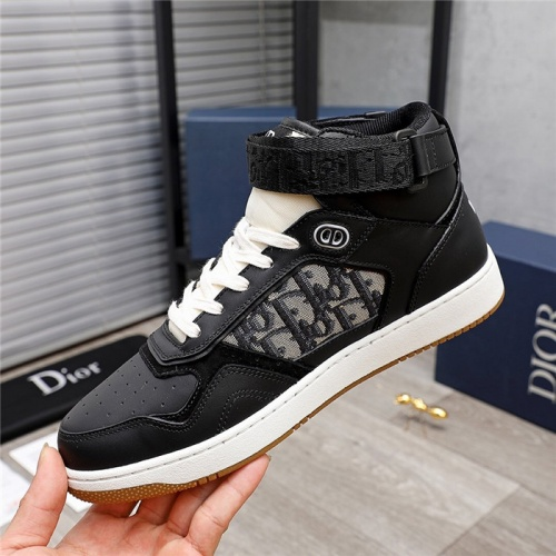 Replica Christian Dior High Tops Shoes For Men #846571 $118.00 USD for Wholesale
