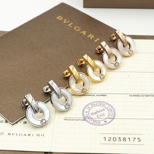 Replica Bvlgari Earrings For Women #846625 $26.00 USD for Wholesale