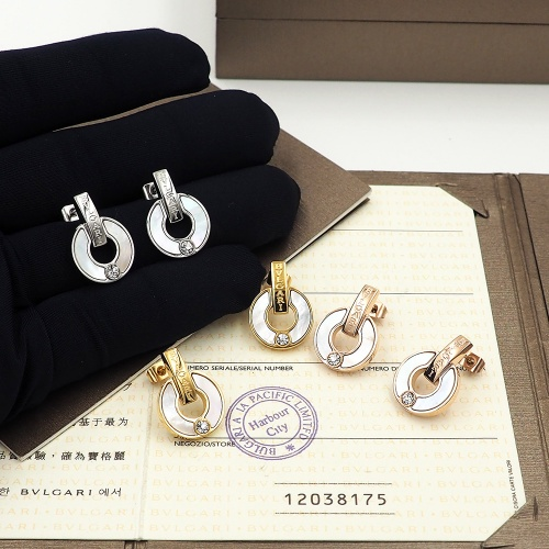 Replica Bvlgari Earrings For Women #846626 $26.00 USD for Wholesale