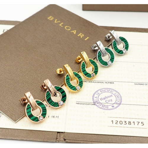 Replica Bvlgari Earrings For Women #846630 $26.00 USD for Wholesale