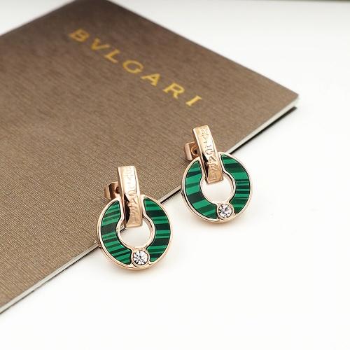Bvlgari Earrings For Women #846631 $26.00, Wholesale Replica Bvlgari Earrings