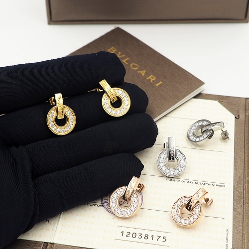 Replica Bvlgari Earrings For Women #846636 $30.00 USD for Wholesale