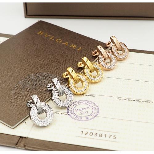 Replica Bvlgari Earrings For Women #846637 $30.00 USD for Wholesale