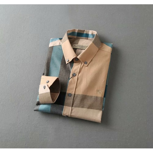 Replica Burberry Shirts Long Sleeved For Men #847149 $38.00 USD for Wholesale