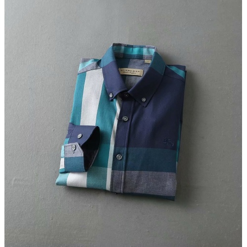 Replica Burberry Shirts Long Sleeved For Men #847151 $38.00 USD for Wholesale