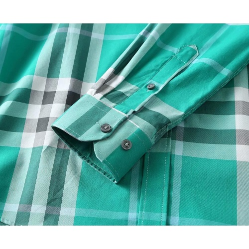 Replica Burberry Shirts Long Sleeved For Men #847157 $40.00 USD for Wholesale