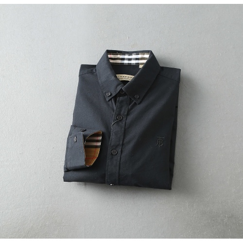 Replica Burberry Shirts Long Sleeved For Men #847161 $39.00 USD for Wholesale