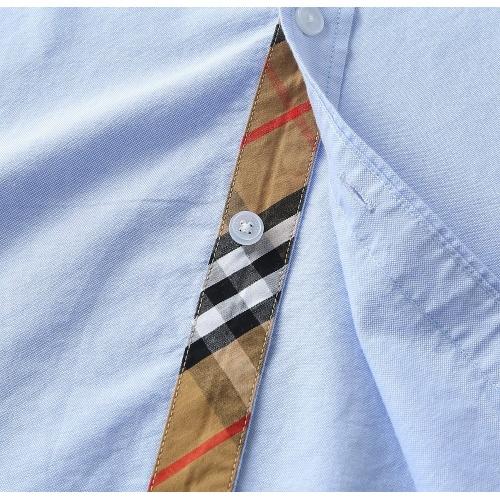 Replica Burberry Shirts Long Sleeved For Men #847163 $39.00 USD for Wholesale
