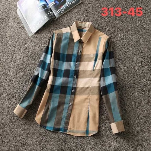 Burberry Shirts Long Sleeved For Women #847169 $38.00 USD, Wholesale Replica Burberry Shirts