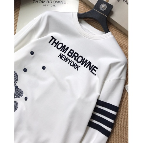 Replica Thom Browne TB Hoodies Long Sleeved For Men #847378 $69.00 USD for Wholesale