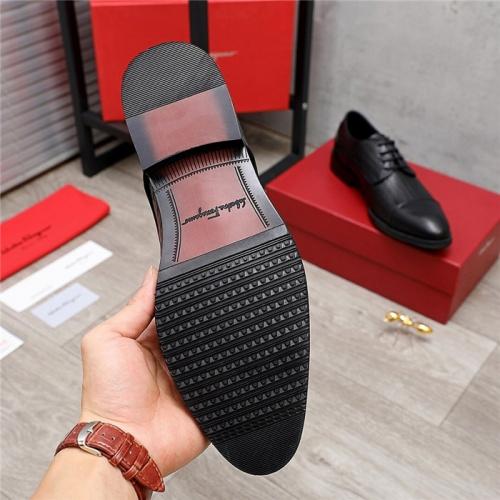 Replica Ferragamo Leather Shoes For Men #847700 $80.00 USD for Wholesale